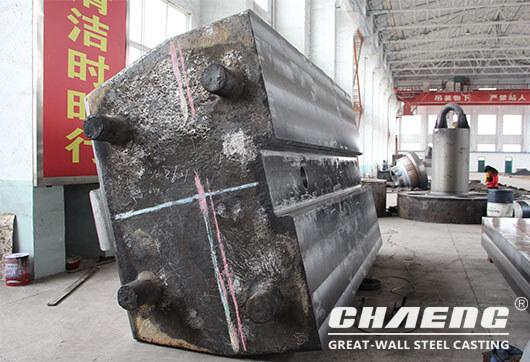 cast steel anvil block of forging hammer