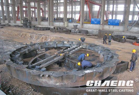 casting large girth gear